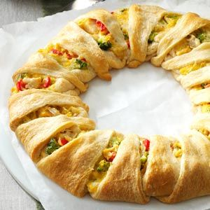 Chicken Crescent Wreath Recipe from Taste of Home -- shared by Marlene Denissen of St. Croix Falls, Wisconsin