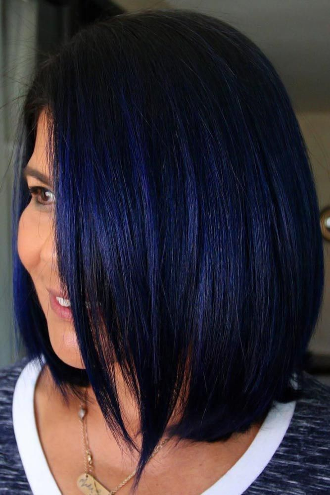 55 Tasteful Blue Black Hair Color Ideas To Try In Any Season With