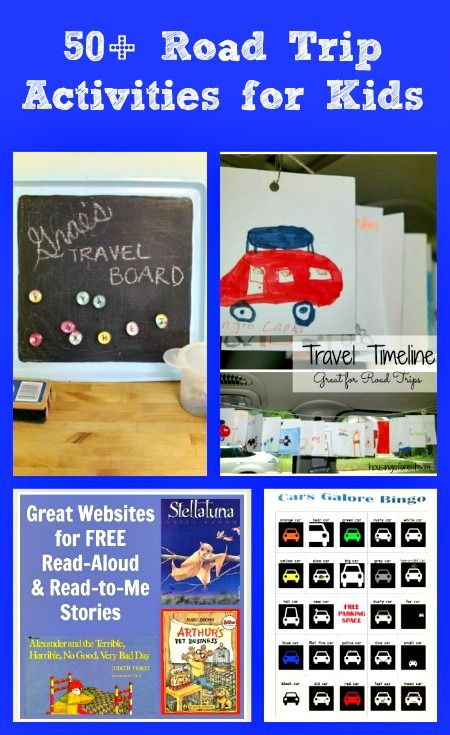 Great ideas for taking reading and writing activities on the road with you - perfect for your next vacation or family trip!