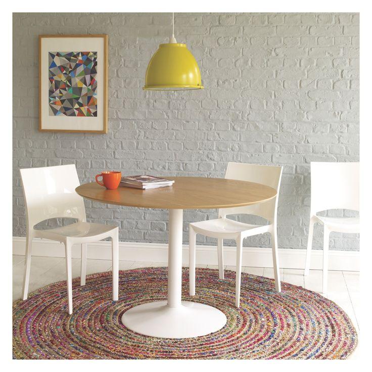 LANCE 4 seater oak veneer round dining table   Buy now at Habitat UK