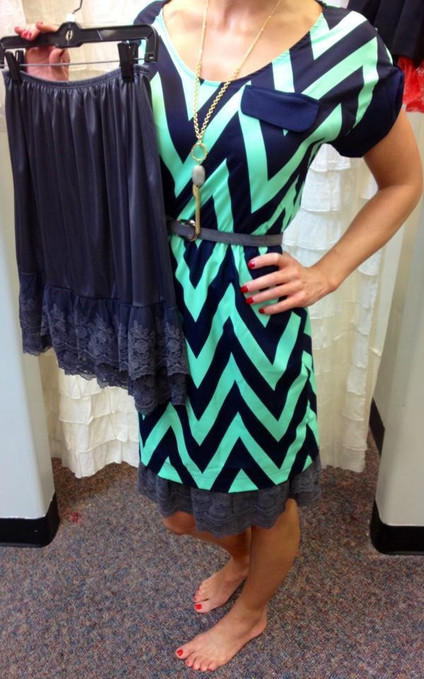 Skirt Extender--for those dresses or skirts that are a little too short. 10 colors to choose from.