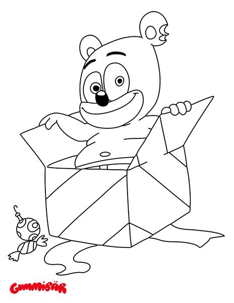 Gummy Bear Candy Coloring Pages