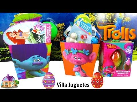(995) Canastas Sorpresas de Trolls de Pascua Huevos Sorpresa - YouTube