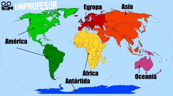 Cuántos continentes hay y sus nombres | Continentes