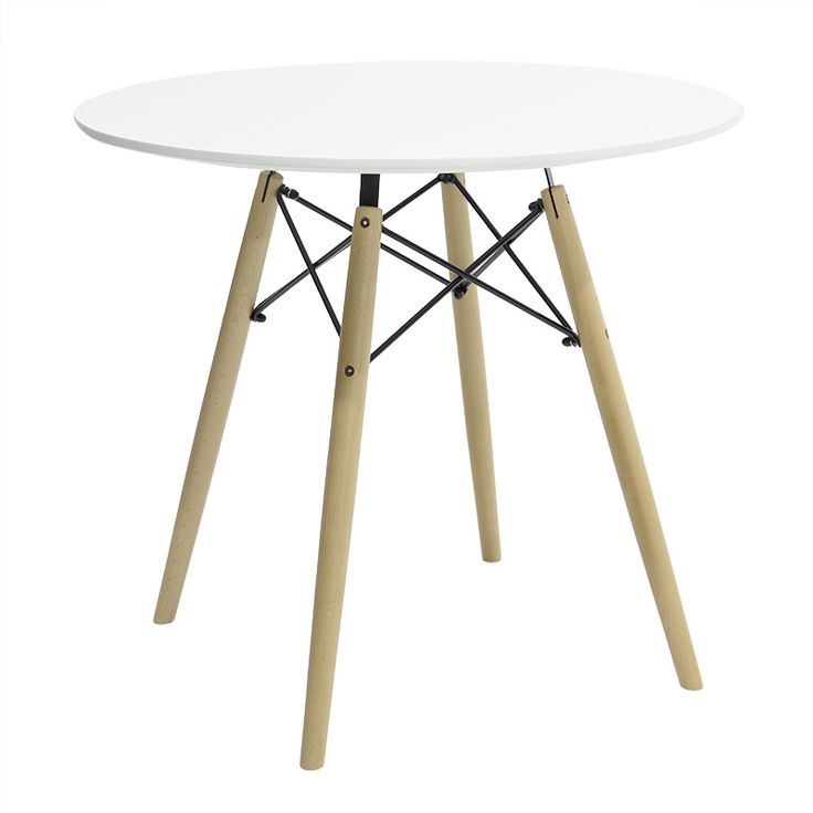 Round Table Julita MDF top white color F80
