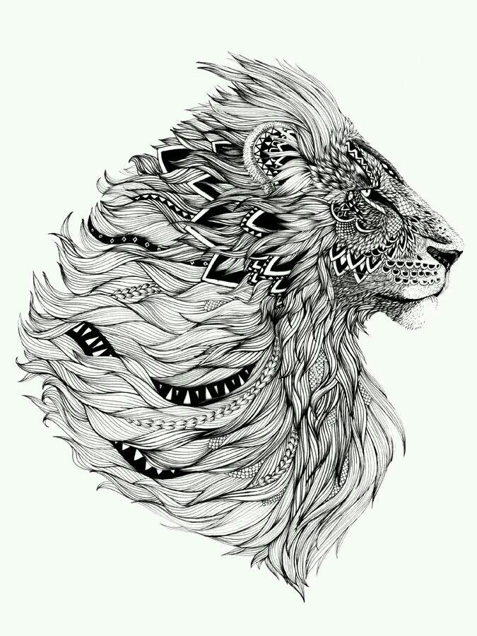 Leão tribal                                                                                                                                                      Mais