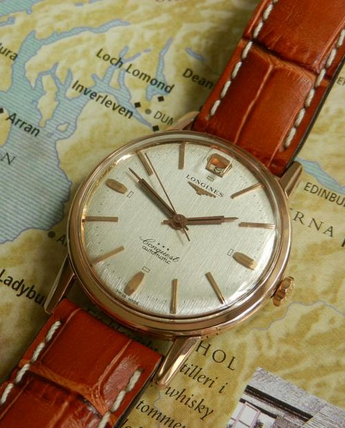 omegaforums:  Brilliant Vintage Longines Conquest Automatic In Gold Circa 1950s