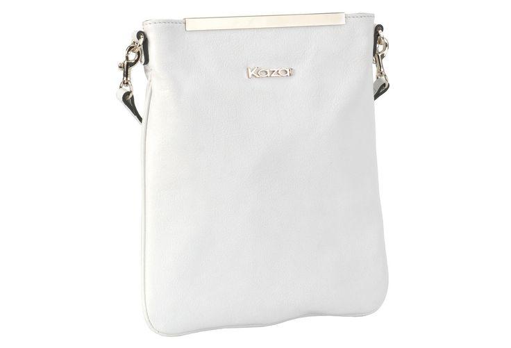 #Kazar Biała torebka skórzana 24567-16168-01-01 z kolekcji 2014 - sklep internetowy Kazar