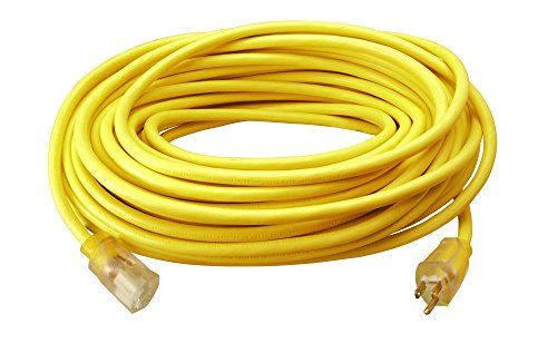 Southwire 02589SW Outdoor Extension Cord- 12/3 American Made SJTW Heavy Duty 3 Prong Extension Cord- Great for Commercial Use, Gardening, and Major Appliances ( 100 Foot- Yellow) #Southwire #Outdoor #Extension #Cord #American #Made #SJTW #Heavy #Duty #Prong #Great #Commercial #Use, #Gardening, #Major #Appliances #Foot #Yellow)