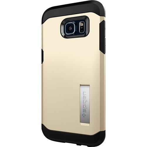 Spigen - Tough Armor Case for Samsung Galaxy S7 Edge Cell Phones - Gold