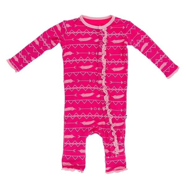 d0b97fb9f55f Kickee Pants Print Muffin Ruffle Coverall Prickly Pear Southwest ...