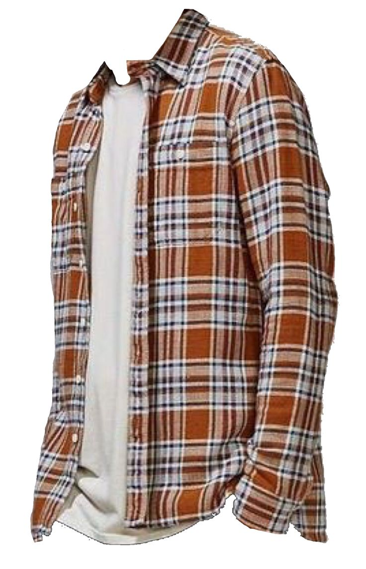 Orange Flannel Polyvore Grunge Outfits Fall Fashion