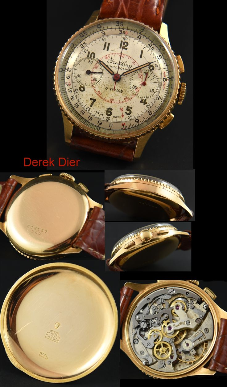 Breitling Chronomat 18k. Gold 1950's - WatchesToBuy.com