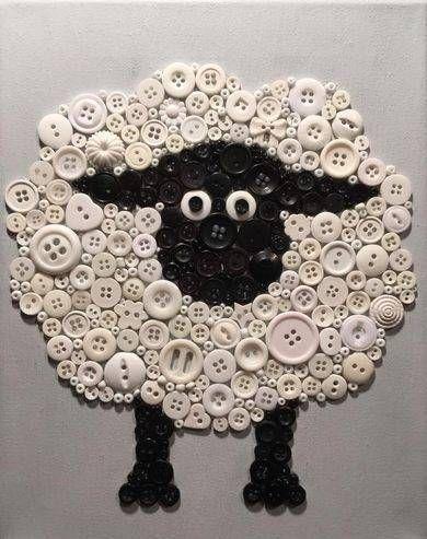 Sheep button art
