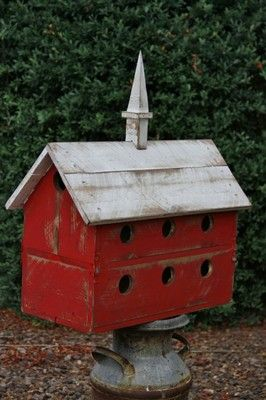 Large Purple Martin House Vintage Purple Martin Birdhouse Barn Bird House