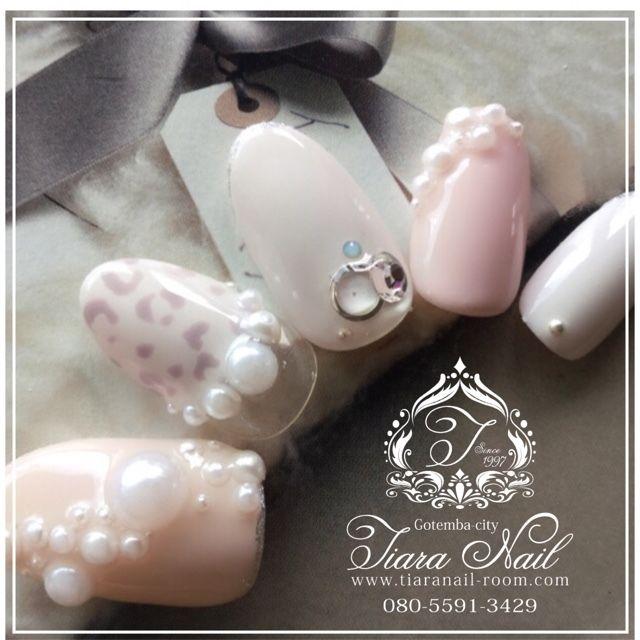 パール&アニマルnail♡ インスタもよろしくお願いします→gotemba_tiaranail #tiara_nail #ネイルブック