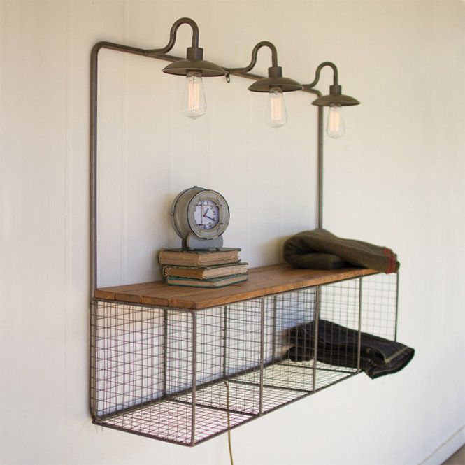 Wire Cubby With Lights Wall Cubby Storage Metal Wall Shelves Wall Shelves