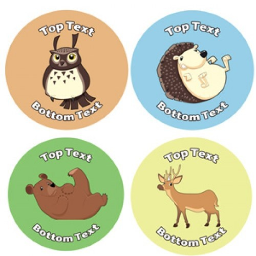 Customise these fun animal design stickers with your personal message perfect for teachers as a personalised quick reward in the classroom