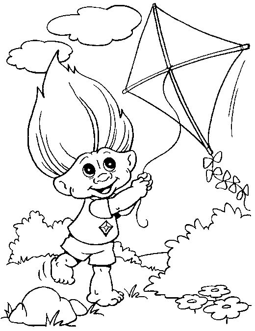 troll_coloring_pages_003 - Coloring Pages ABC Kids Fun Page