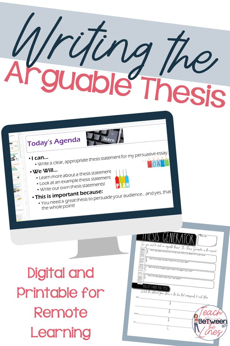 Thesis Statement Writing Crafting an Arguable Thesis