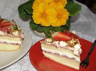 W Mojej Kuchni Lubię.. : torcik waniliowy z truskawkami...