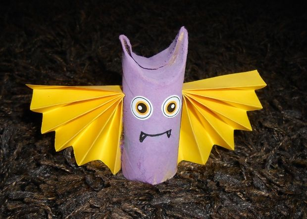 toilet paper rolls halloween bat easy kid craft diy home decoration ideas