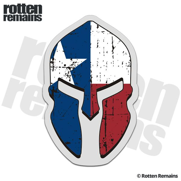 Texas State Flag Spartan Helmet Decal TX Molon Labe Sticker
