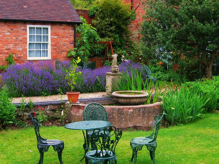 this beautiful garden should be so inviting upon opening the cute glass window - Beautiful Garden Pictures Houses