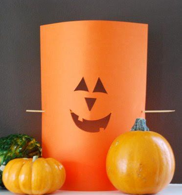 Easy Halloween Decoration- cut out some shapes from paper to look like