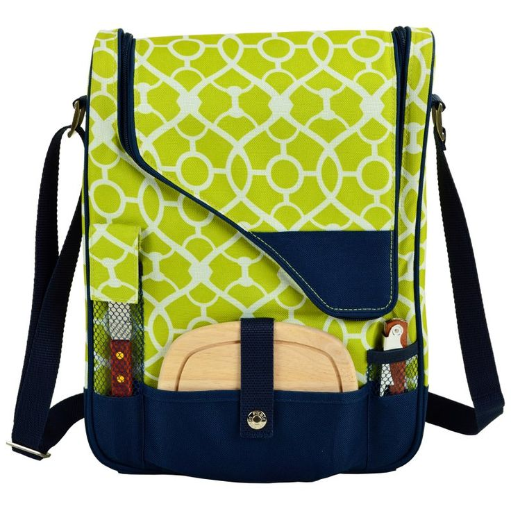 Picnic At Ascot Pinot Wine and Cheese Cooler for 2 Trellis Green - 434-TG