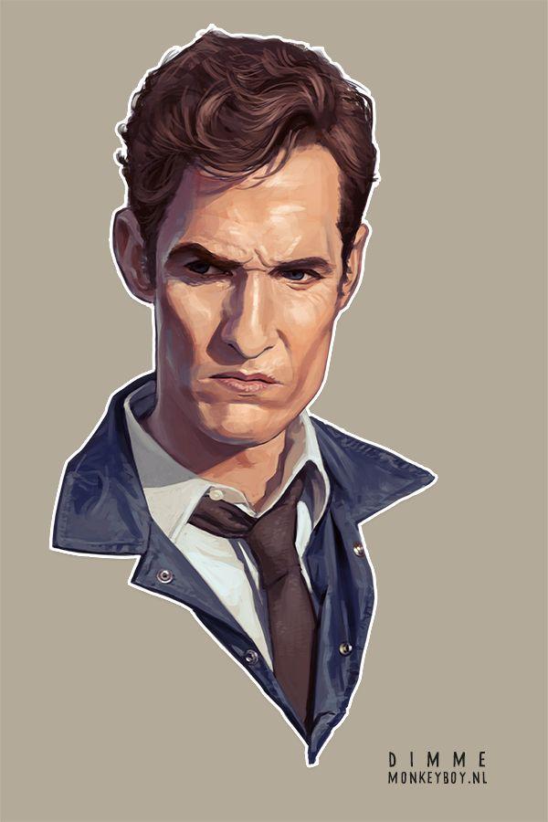 #TrueDetective #MatthewMcConaughey #Portrait #DimmeMonkeyboy
