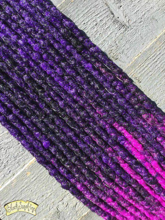 Hocus Pocus De X8 Crochet Synthetic Dreads Black Purple