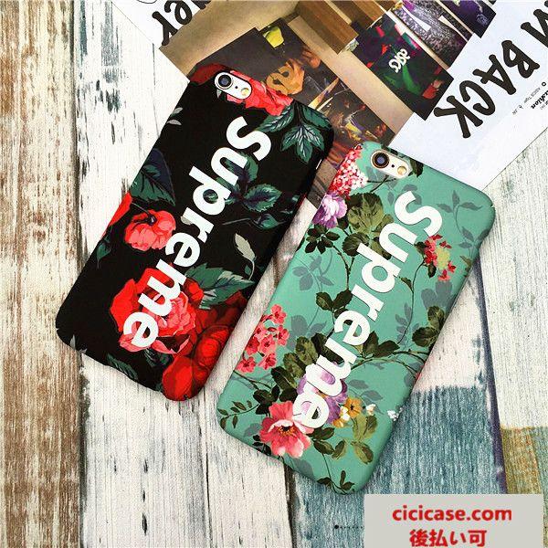 ブラントsupreme 花柄 iphoneケース 7/7 plus ハードカバー おしゃれ シュプリーム アイフォン6sカバー 綺麗 女性愛用 送料無料