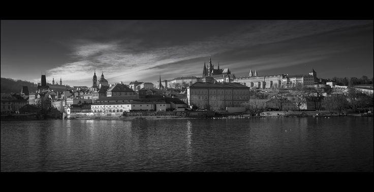 Prague panorama bw - null