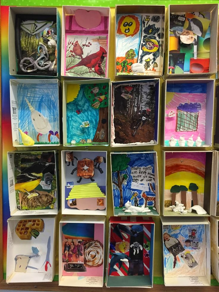 3rd grade is finishing their Dream Box project, which is inspired by Martin Luther King Jr. and artist Joseph Cornell more abo...