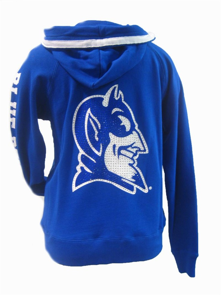 The Duck Shop - Fine Collegiate Duke Apparel - Duke Ladies Glitz Hoodie - Royal