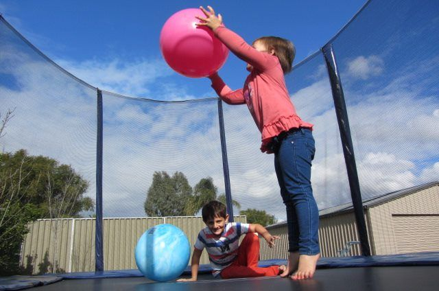 Any kind of games are fun on the trampoline!   www.jumpstar.com.au