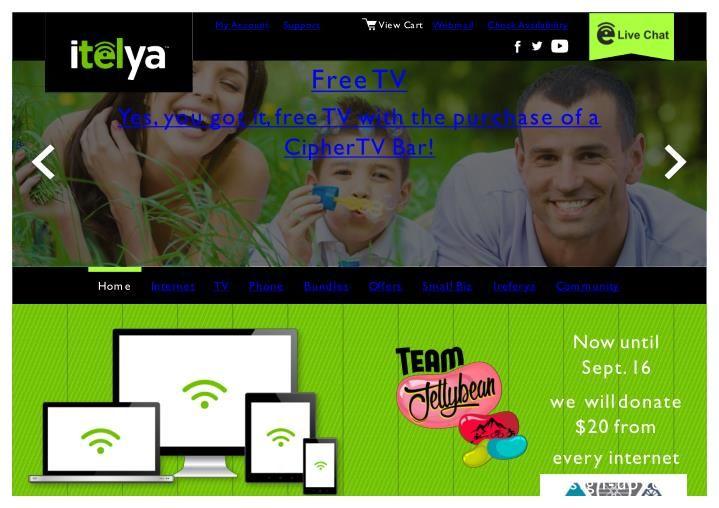 Itelya Communications provides high speed unlimited Internet service, TV Bundle…