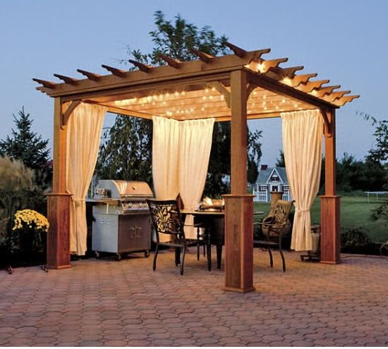 Our 4 Favorite Patio Pergola And Deck Lighting Design Tips: 176 Best Images About Backyard Landscaping On Pinterest