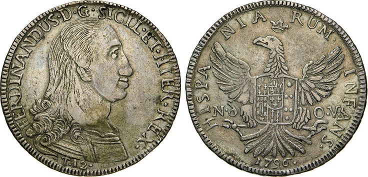 NumisBids: Numismatica Varesi s.a.s. Auction 65, Lot 545 : PALERMO - FERDINANDO III (1759-1816) 12 Tarì 1796. Sp. 19/21 ...