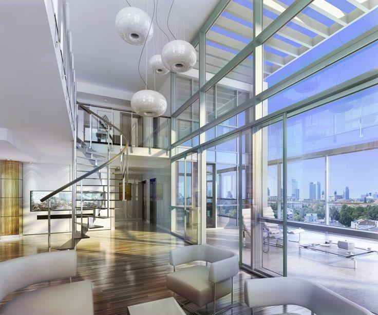 Wizualizacja penthouse'u w Platinum Towers, więcej informacji na http://www.platinumtowers.pl/.