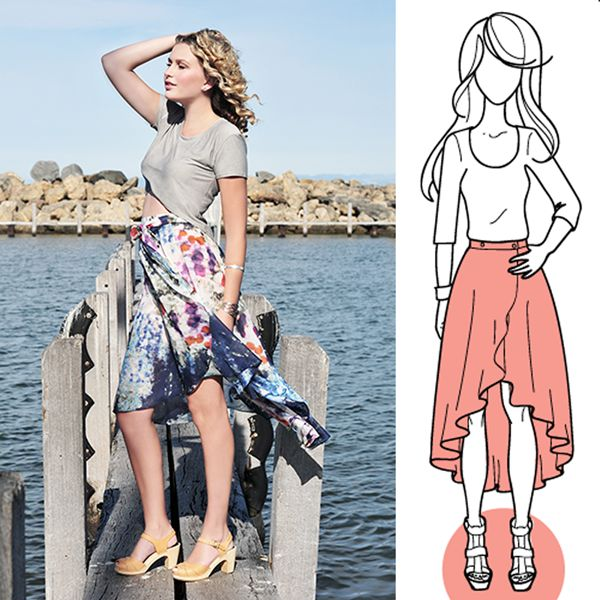 Cascade Skirt Sewing Pattern. Overpriced but so easy to DIY!