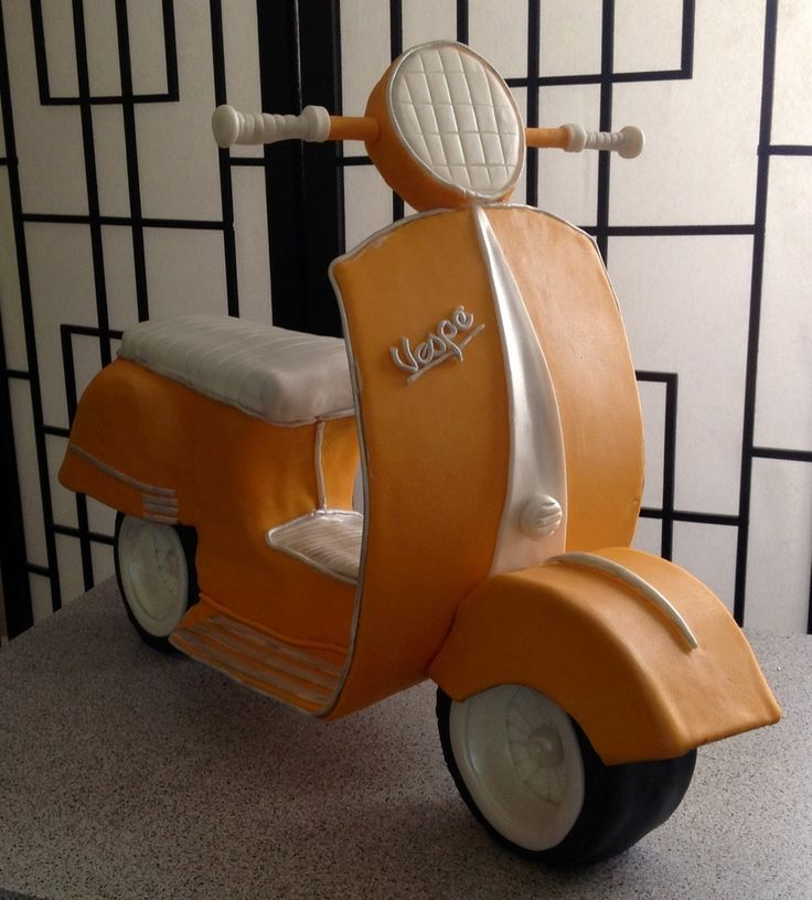 3D Vespa Scooter Cake  on Cake Central
