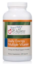Wellness Resources Daily Energy Multiple Vitamin contains coenzyme b vitamins for energy production and stress tolerance. Feel the difference when you take a superior quality daily vitamin.