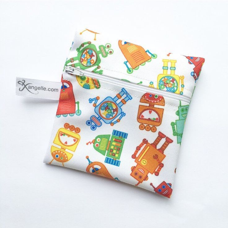 A personal favorite from my Etsy shop https://www.etsy.com/ca/listing/453206860/small-robots-reusable-snack-bag