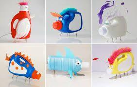 Resultado de imagen para como hacer lapiceros con botellas de plastico