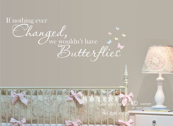 Best Butterfly Nursery Ideas Images On Pinterest Butterfly - Vinyl wall decals butterflies