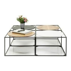 Tables basses Quattro Circles 100x100cm set de 4 Kare Design