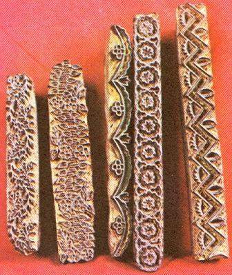 İstanbul Kandilli yazma kalıplarından bordür örnekleri.