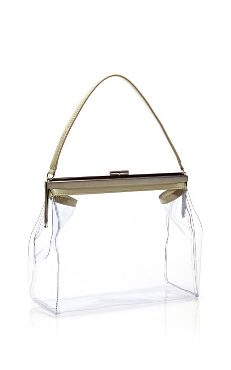 PERFECT FOR THE BEACH! Simone Rocha transparent bag - Small PVC Satchel, $1,360. Sold out. Leave little to the imagination with this translucent Simone Rocha satchel, finished with a shoulder strap for effortless, on-the-go wear. 100% PVC. Made in Italy.